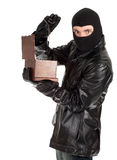 Male thief with jewelry box Stock Photos