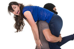 Free Male Thief Kidnapping Carrying Young Girl Royalty Free Stock Photo - 47980505
