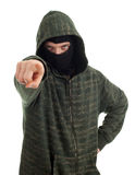 Male thief pointing you Royalty Free Stock Image