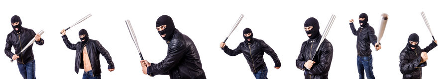 The male thug isolated on the white. Male thug isolated on the white Stock Photography