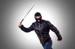 Male thug. On the white Stock Photos