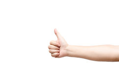 Male Thumb up sign Royalty Free Stock Images