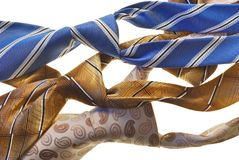 Male ties Royalty Free Stock Photography