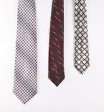 Male ties isolated on a white background. Male ties isolated on a white background Stock Photography