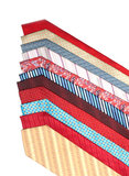 Male ties line Stock Photography