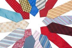 Male ties put around Royalty Free Stock Photo