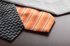 Male ties on table Royalty Free Stock Photo