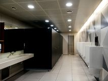 Male toilet in Airport royalty free stock photography
