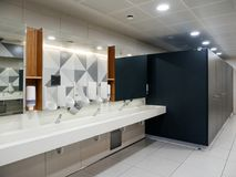 Male toilet in Airport royalty free stock images
