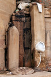 Male toilet on Ghats in Varanasi Royalty Free Stock Photography
