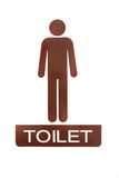 Male toilet sign. Symbol thank for your support Stock Images