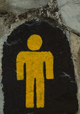 Male toilet. The symbol for the male toilet Royalty Free Stock Photography