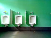 Male Toilet urinals. Photo of male toilet urinals Royalty Free Stock Photos