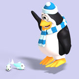 Male toon penguin Royalty Free Stock Photo