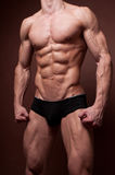 Male torso. Muscled male torso with strong abs stock photos