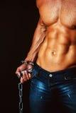 male torso Arkivbilder