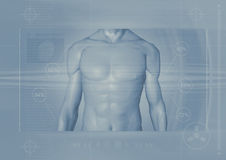 Male torso backround Royalty Free Stock Photo