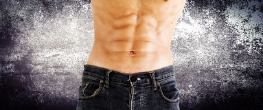 Male torso. Healthy lifestyle concept and ideas Stock Photo