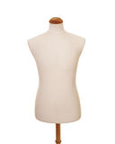 Male torso mannequin. Front view of male torso mannequin on white background Stock Photos