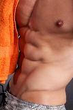 Male torso. Shot in studio background Royalty Free Stock Photo