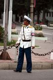 Male traffic police in DPRK (North Korea) Stock Photography