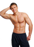 Male training body. Excellence male training body. Isolated on White Stock Photos