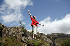 Male traveller Stock Photography