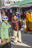 Male tribal person in costume. A male tribal person in costume on the market of Keng Tung, Myanmar Royalty Free Stock Photography