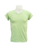 Male tshirt template on the mannequin on white background. (with clipping path Stock Photography