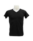 Male tshirt template on the mannequin on white background Stock Photography