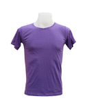 Male tshirt template on the mannequin on white background. (with clipping path Royalty Free Stock Image