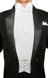 Male tuxedo over white. Background Stock Photo