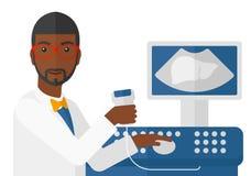 Male ultrasound specialist Stock Photos