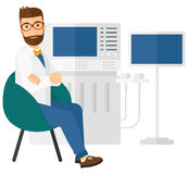 Male ultrasound specialist Royalty Free Stock Photo