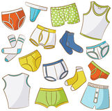 Male Underwear Icon Set Stock Photo