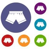 Male underwear icons set Stock Photo