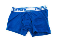 Male underwear isolated. On the white royalty free stock images