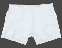 Male underwear isolated on gray background. Stock Image