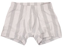 Male underwear isolated on white. Background Stock Photography
