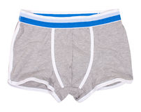 Male underwear isolated on white Stock Photos