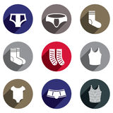Male underwear vector icon set. Royalty Free Stock Images