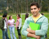 Male university student Royalty Free Stock Image