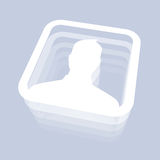 Male User Icon. For Social Media Stock Image
