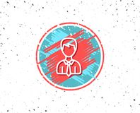 Male User line icon. Male Profile sign. Royalty Free Stock Photography