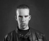 Male Vampire Portrait Stock Image