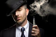 Male Vaping E-Cigarette Stock Photos