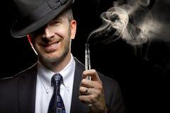 Male Vaping E-Cigarette Royalty Free Stock Image