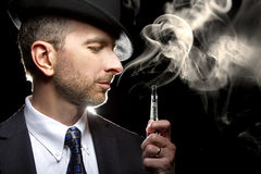Male Vaping E-Cigarette Stock Photography