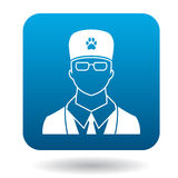 Male veterinarian doctor icon, simple style Stock Photography