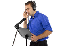 Male Voice Over Artist or Singer Royalty Free Stock Photography